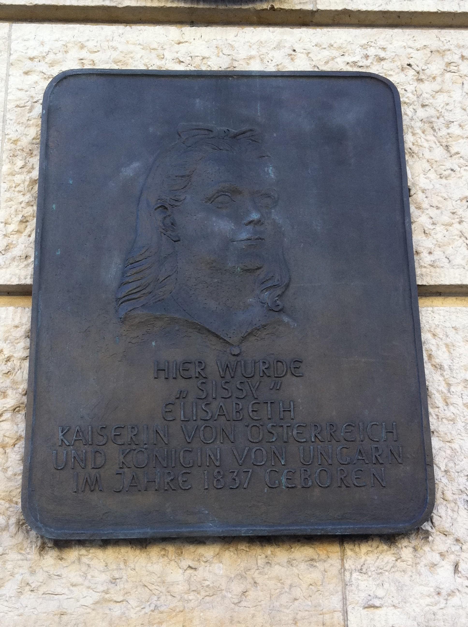 Sissi-Plakette in München
