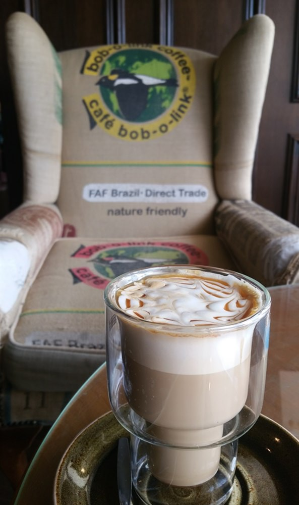 Kaffee Kunstwerk im The Artisan in Southampton